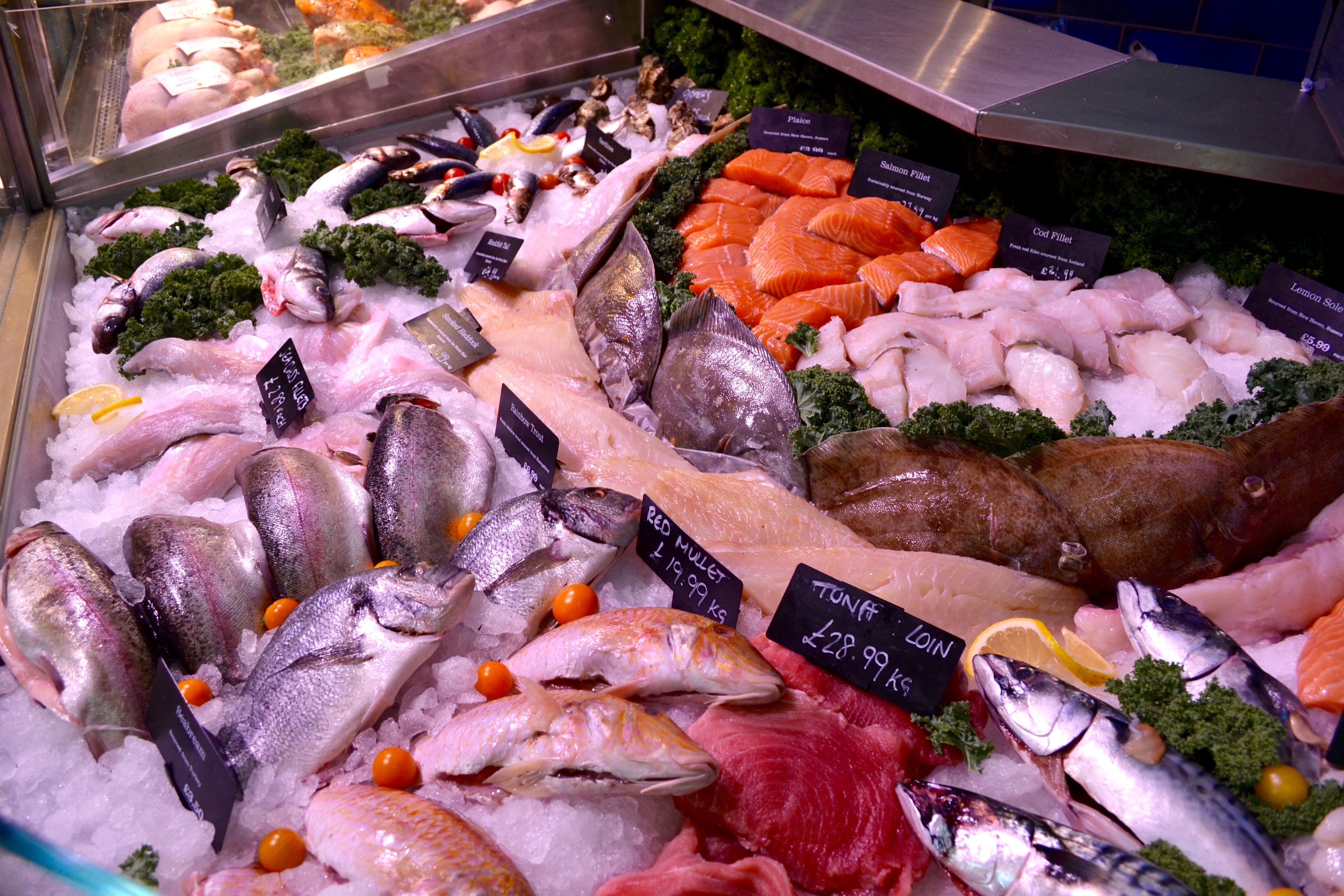 Fresh Fish Counter, Farndon Fields, Market Harborough, Leicestershire