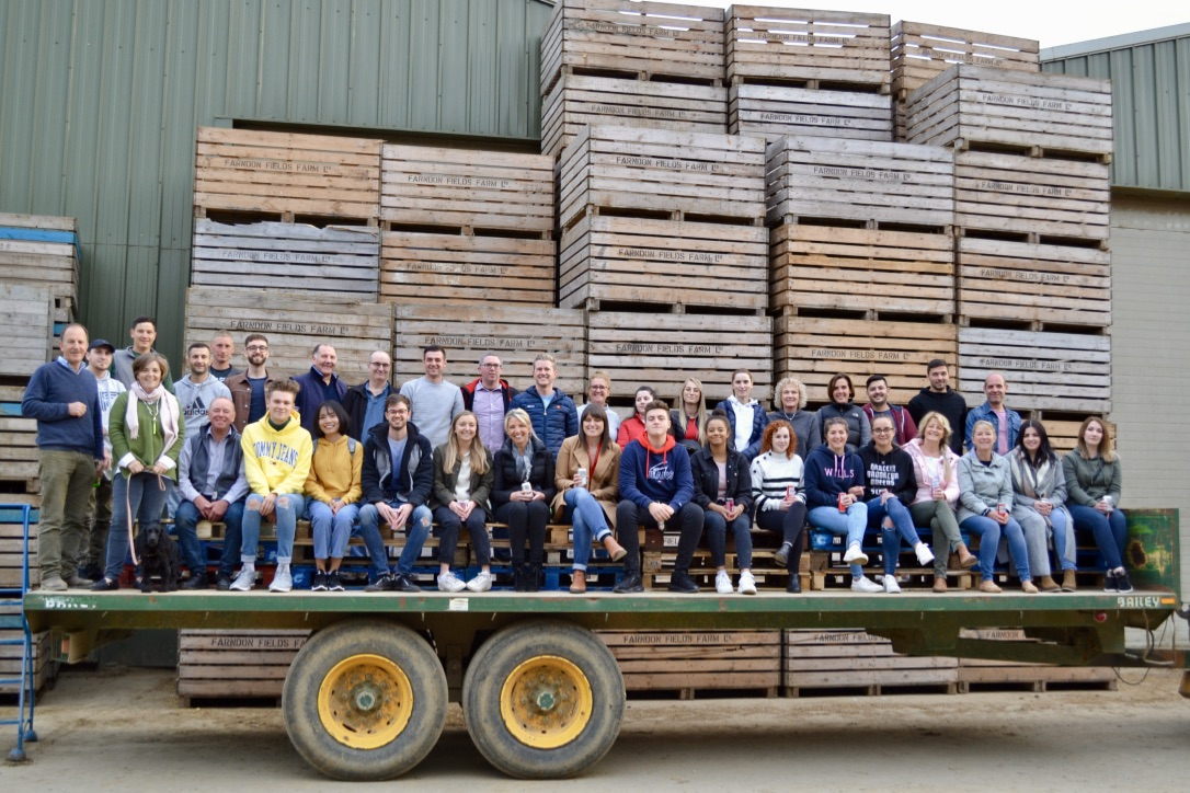 Farndon Fields Farm Team 2019, tour of the farm at Farndon Fields, Market Harborough