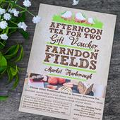Afternoon Tea gift voucher at Farndon Fields