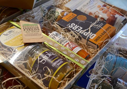 Christmas hamper, savoury small, shop online, Farndon Fields