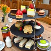 Afternoon tea in The Farmer's Kitchen at Farndon Fields